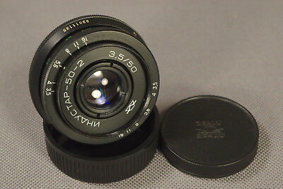 Industar 50-2 Russian Pancake Lens 50mm f3.5 M42 Mount, Warranty, USA Seller