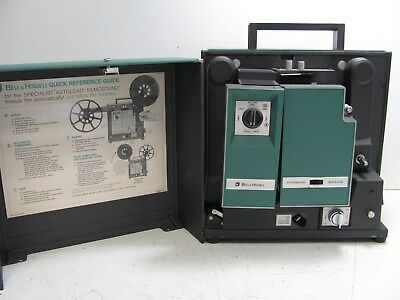 Vintage Vtg Bell & Howell Filmosound Portable Autoloading 16mm Movie Projector