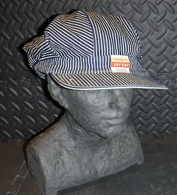 Vintage 1950's Penney's Pay-Day Union Made Sanforized Conductor Hat Nice L@@k
