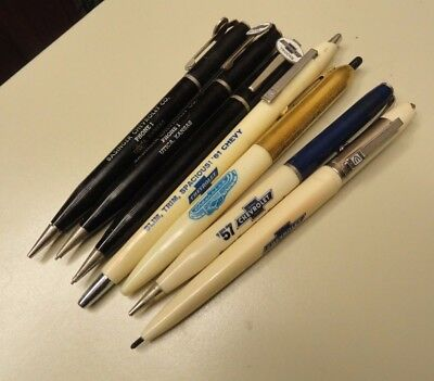 Lot of 7 Chevy / Chevrolet Ball Point Pens / Mechanical Pencils