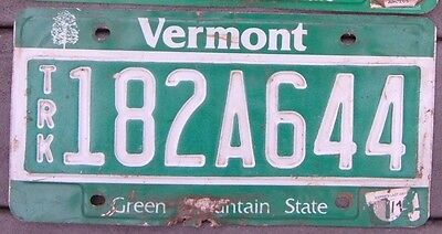 VERMONT Truck Green Mountain State  license plate  182A644