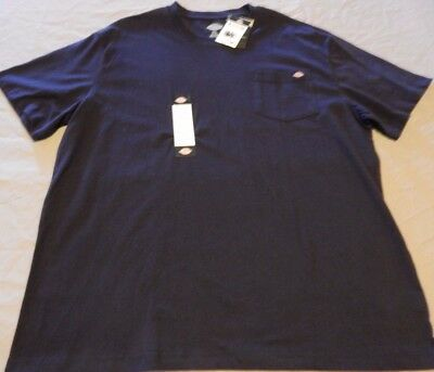 Dickies Men's size XL Pocket T-Shirt Navy New With Tags!!!