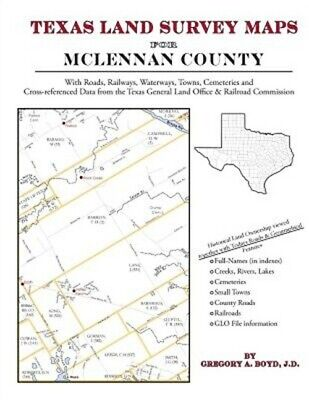 Texas Land Survey Maps for McLennan County (Paperback or Softback)