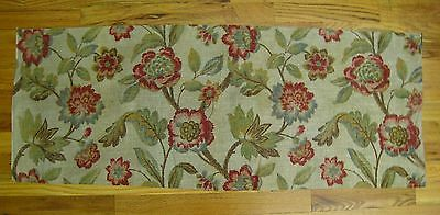 Beautiful 1930's Most Likely English Exotic Floral Print on Linen  (9990)