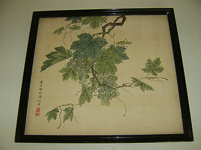 Old Fine Quality Antique Chinese Painting Stunning Brushwork On Silk Signed Rare