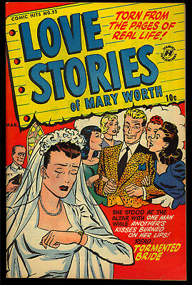 Harvey Comic Hits #55 (Love Stories of Mary Worth) Very Nice File Copy 1951 FN+