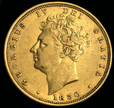 Rare King George The Iv 1830 Gold Sovereign