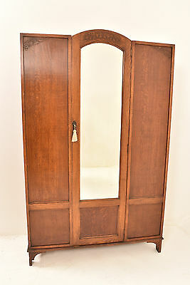 A 20th Century Edwardian Oak Wardrobe