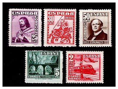 Spain 1948 Anniv/Stamp Day Stamps. Mint No Hinge  #497