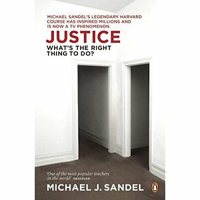 Justice: What's the Right Thing to Do? - Paperback NEW Sandel, Michael 2010-02-2