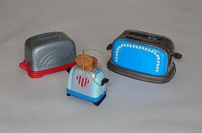 2 Child's Play Toasters and 1 Toaster hanging ornament