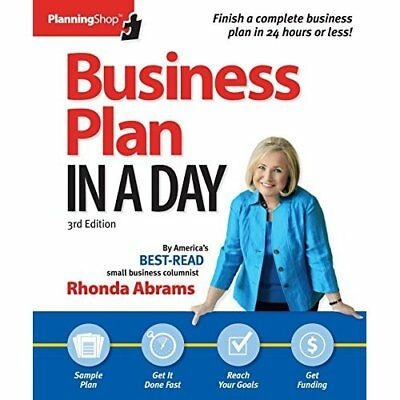 Business Plan In A Day: Get it done right, get it done  - Paperback NEW Rhonda A