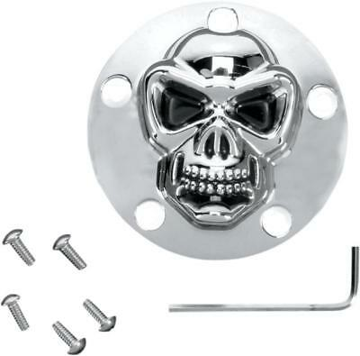 DS 3D Skull Points Cover Chrome Harley FXDF Dyna Fat Bob 2008-2016