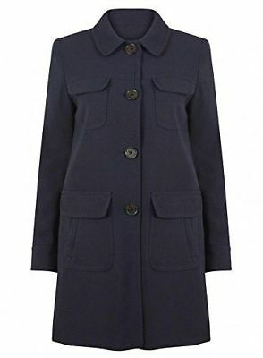 New Womens ladies gorgeous Next navy Long Sleeve Coat size 16