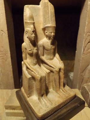 Egyptian museum statue replica of the God Amun & wife Mut