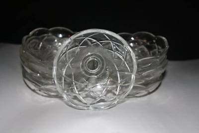 A Vintage Glass Chandelier  Cup, Glass Bobeche  (Sp17)