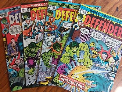 The Defenders #30,31,32,33(1975, Marvel)