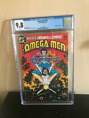 Omega Men #3 Cgc 9.8 White Pages Free Shipping  Key First Lobo