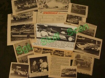 Vintage drag racing news / promo publications clippings dating to the 1960's