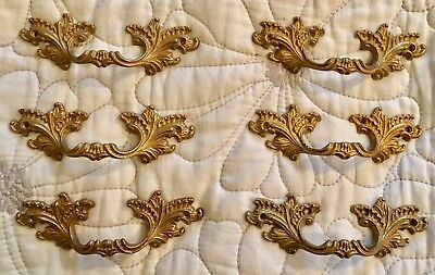 6 Matching Vintage Metal Louis French Style Rococo Pull Handles