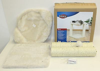 BNIB TRIXIE 44541 Baza Cat Tree Bed Cradle Pet Fluffy Ball Toy Scratching Post