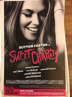 SUTTON FOSTER Sweet Charity Window Card Poster off-Broadway 2017