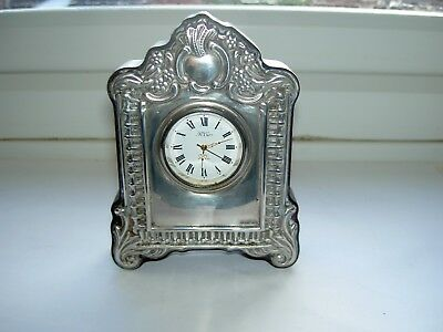 Silver Desk Mantle Clock