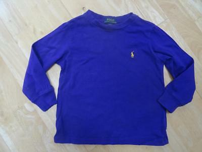 RALPH LAUREN POLO boys purple long sleeve designer top AGE 18-24 MONTHS - 2 YEAR