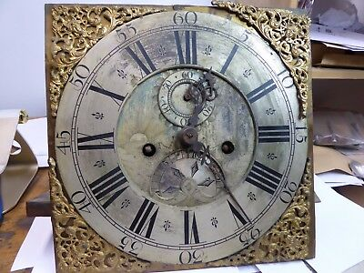 antique Longcase clock  movement & Dial