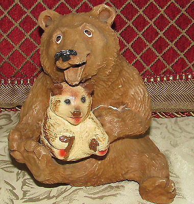 Vintage Dave Grossman Designs Bear and Cub Figurine Statue