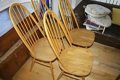 Beautiful Set Of 4 Ercol Quaker High Back Dining Chairs Superb Condition St.alba