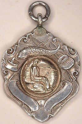 Prize silver medal London Anglers Lee Benevolent Lychnobite Angling Society 1954