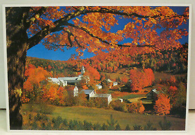 Vermont Village Nestled in Autumn Splendor Vermont Postcard