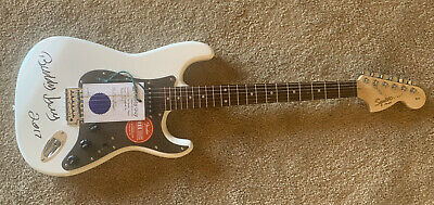 Buddy Guy Signed Autographed White Squier Strat Electric Guitar W/ Buddy Guy COA