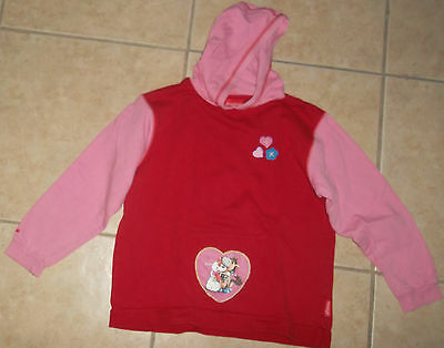 Sweat-Shirt Capuche DIDDLINA DIDDL Rose Rouge Haut 10 ANS Fille TTBE