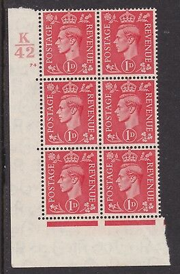 Gb 1942 1D K42 Cylinder 74 Control Block Of Six, Curved Frame, Cat £250