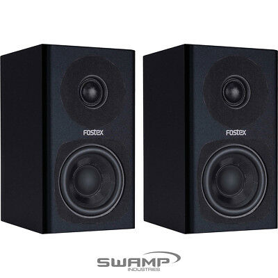 Fostex PM0.3 / PM0.3d Powered Recording Studio Speakers (Pair) - Black