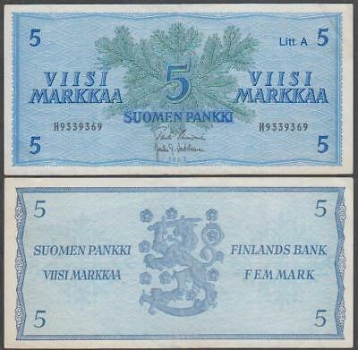1963 Finlands Bank (Finland) 5 Markkaa
