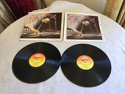 """Jeff Waynes The War Of The Worlds 12"""" Inch Double Vinyl Record"""