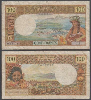 ND (1969) Institut D'Emission D'Outre-Mer Tahiti 100 Francs