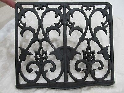 Antique Victorian Ornate Cast Iron Floor Grate Heat Vent Register