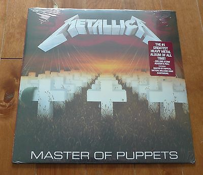 Metallica - Master Of Puppets Vinyl LP Sealed New Black