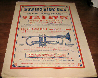 1903 J.w. Pepper Instrument Musical Times And Band Journal