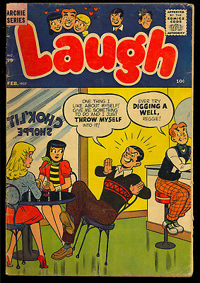 Laugh Comics #79 Nice Silver Age Archie Betty & Veronica Comic 1957 VG-