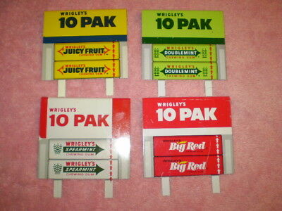 Vintage Gum Advertising Display Tin Signs Wrigley's Spearmint Big Red Peppermint