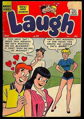 Laugh Comics #98 Nice Good Girl Cover Archie Betty & Veronica Comic 1959 GD+