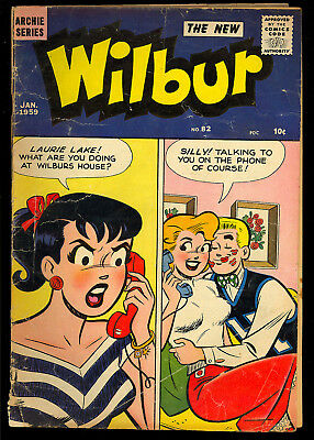 Wilbur #82 Good Girl Cover Silver Age Archie Teen Comic 1959 GD