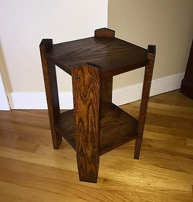 Antique Mission Oak Arts and Craft Period Plant / Fern Stand Side Table