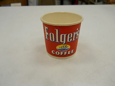 Vintage Paper Cup Advertising Folger's Coffee