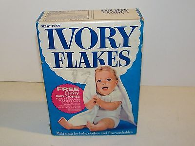 Vintage Ivory Soap Flakes Laundry Clothes Soap Box 13oz Unopened VGC
